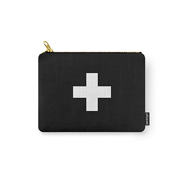 "Society6 Swiss Cross Scandinavian Design Carry-All Pouch Small (6"" x 5"")"