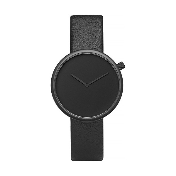 Bulbul Ore 01 Men's Watch - Black Steel on Black Italian Leather