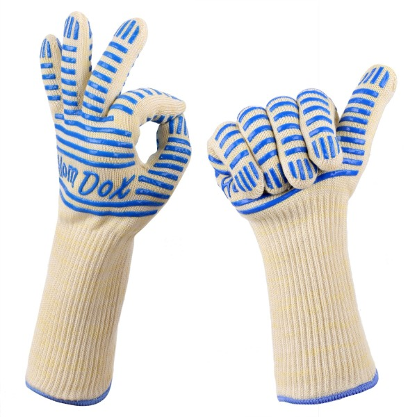 Homdox Heat Resistant BBQ Grill Gloves, Hot Surface Handler