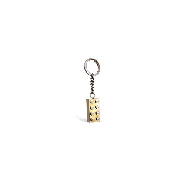LEGO Keychain 2x4 Stud Gold