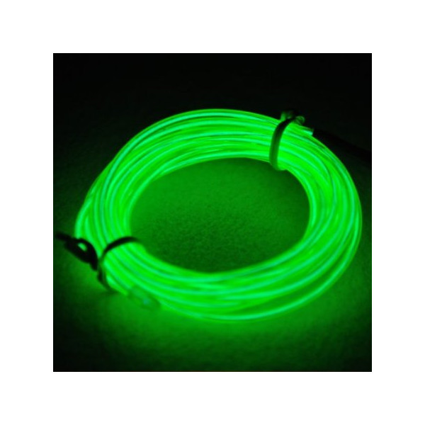 9ft Lime Green Neon Glowing Electroluminescent Wire (El Wire)
