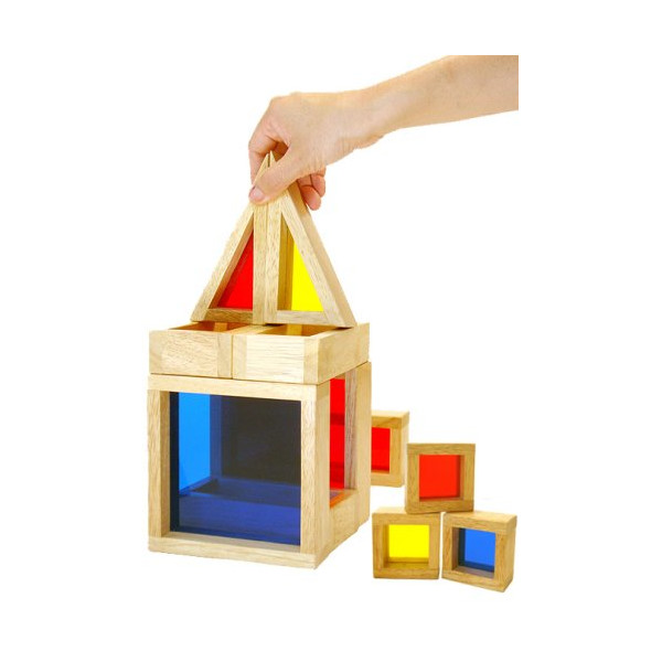 Deluxe Preschool Learning & Development Toy: Modern Architect Construction Color Building Blocks Set