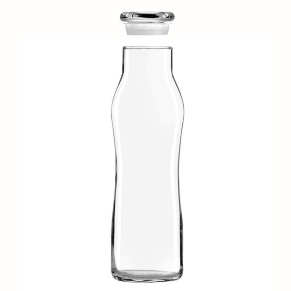 Libbey Glass Decanter Carafe Bottle, Swerve Cylinder, 22oz