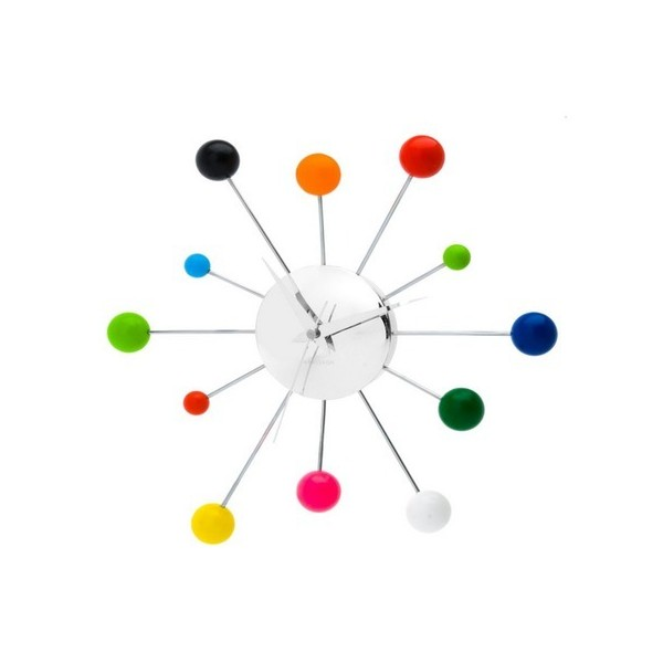 Karlsson Wall Clock Mixed Spider Multi Color Steel Chrome