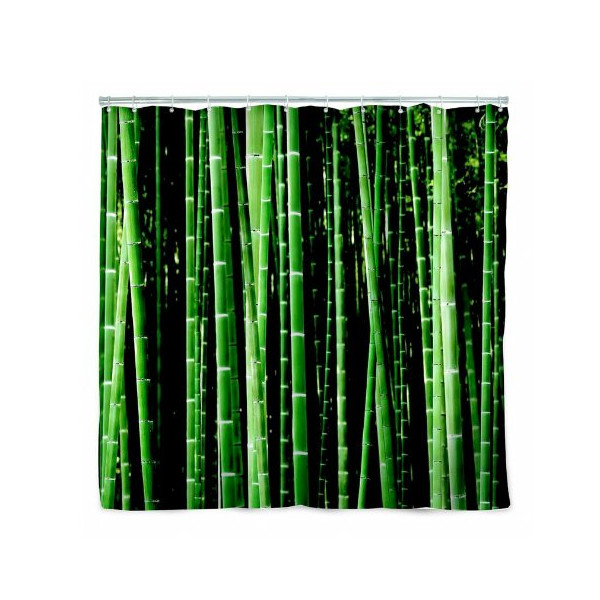 Kikkerland Shower Curtain, Bamboo