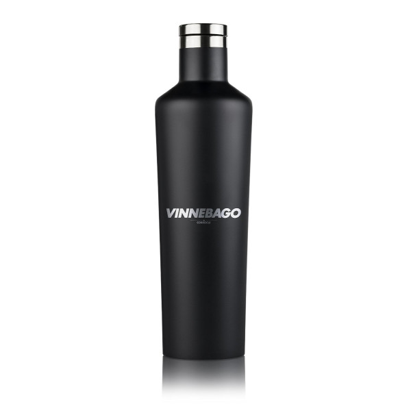 Corkcicle Vinnebago Insulated Stainless Steel Bottle/Thermos, 750ml, Black