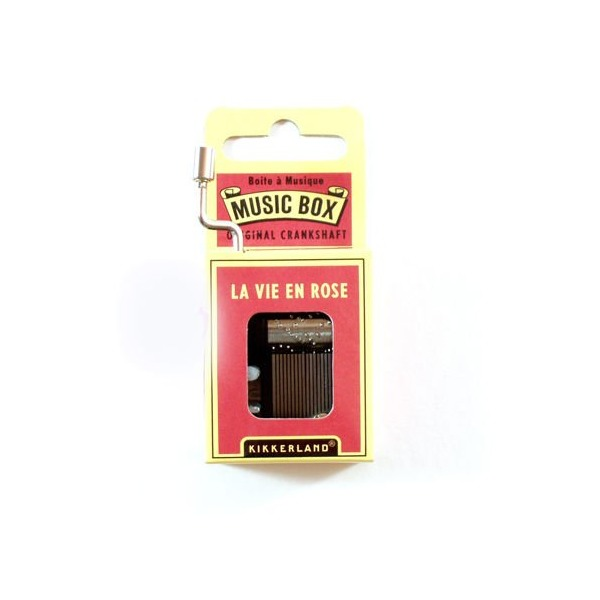 Kikkerland La Vie En Rose Crank Music Box