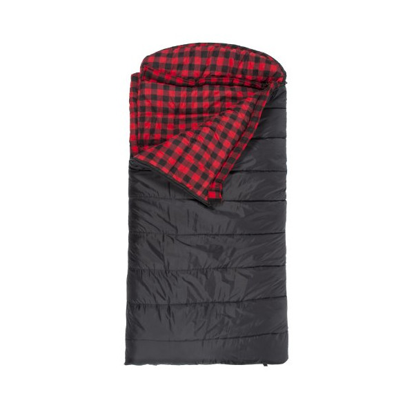 "TETON Sports Celsius XXL -18 Degree C / 0 Degree F Flannel Lined Sleeping Bag (90""x 39"", Black, Right Zip)"