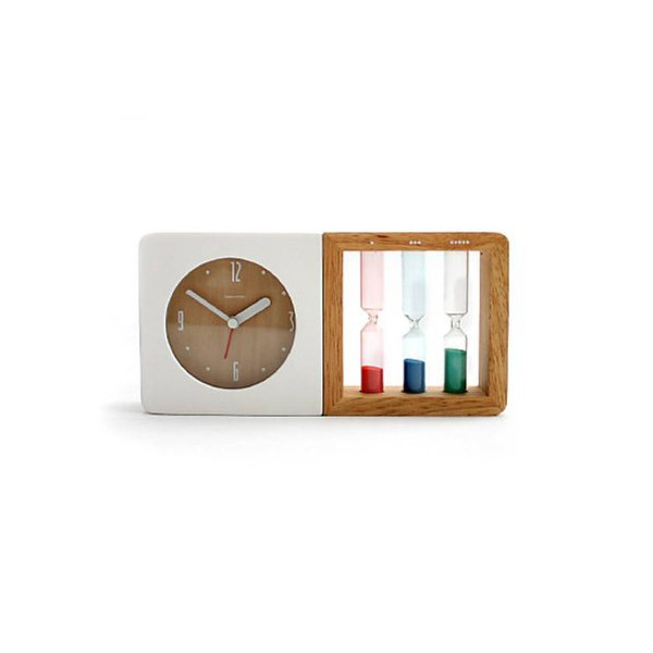 Creative Simple Style Wooden Mute Desktop Clock Home Decoration