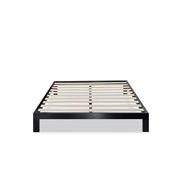 Zinus Modern Studio Platform 2000 Metal Bed Frame/Mattress Foundation, no Boxspring needed, Wooden Slat Support, Queen