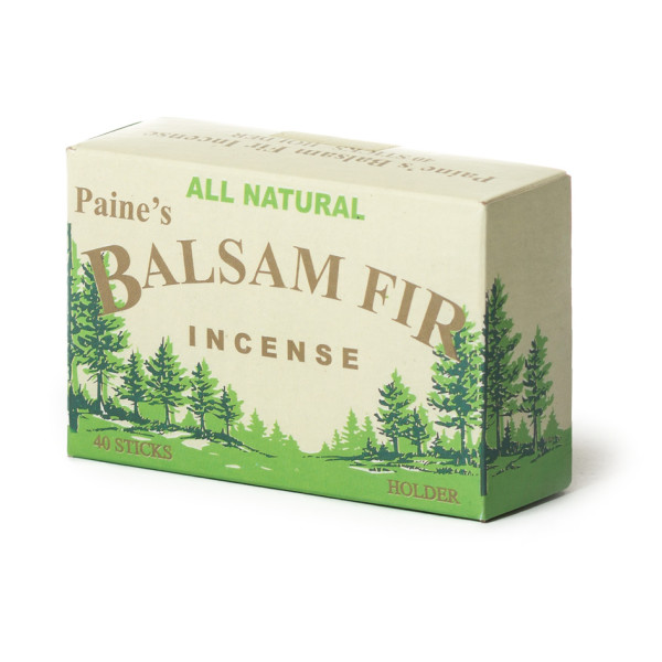 Paine's Balsam Fir Incense, 40 Balsam Sticks and Holder