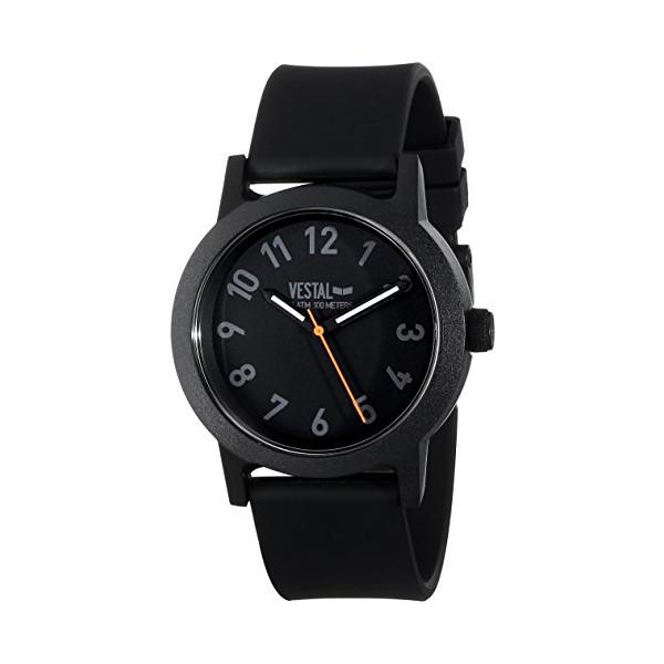 Vestal Men's ALP3P04 Alpha Bravo Plastic Analog Display Japanese Quartz Black Watch