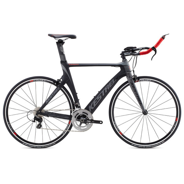 2015 Kestrel Talon Tri-Shimano 105 Carbon Fiber 57CM Bike 3055171657 Grey/Red