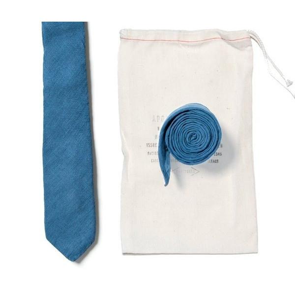 Apolis Organic Hand Dyed Indigo Linen Tie