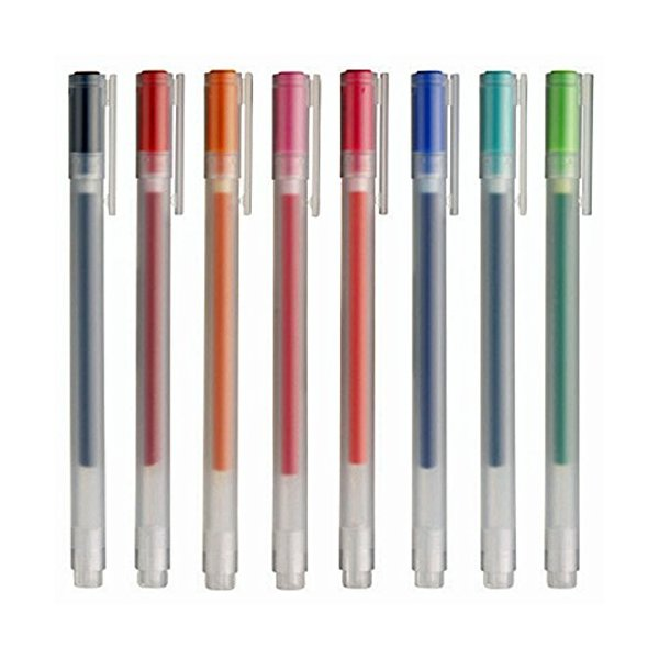Muji Gel Ink Ballpoint Pens 0.38mm 8 colors Set