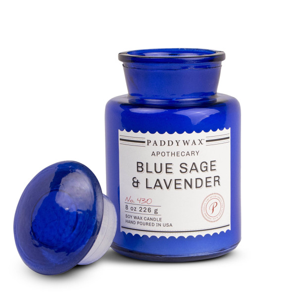 Paddywax Apothecary Collection Jar Candle, Blue Sage and Lavender, 8oz