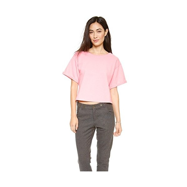 Apiece Apart Women's Cropped Tee, Flamingo Pink, X-Small