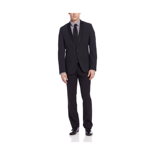 Calvin Klein Sportswear Men's PV Shawl Collar Tux Jacket, Charcoal, Large