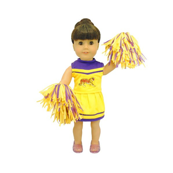 KHOMO Cheerleader Set for American Girl and Madame Alexander Dolls