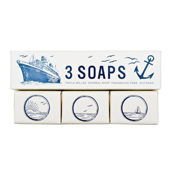 Izola 605 Triple-Milled Maritime Soaps, Set of 3