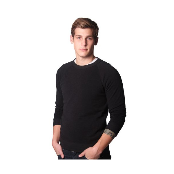 Alternative Unisex Champ Fleece Crew, Eco True Black