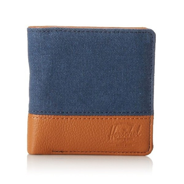 Herschel Supply Co. Kenny Canvas, Washed Navy/Tan Leather