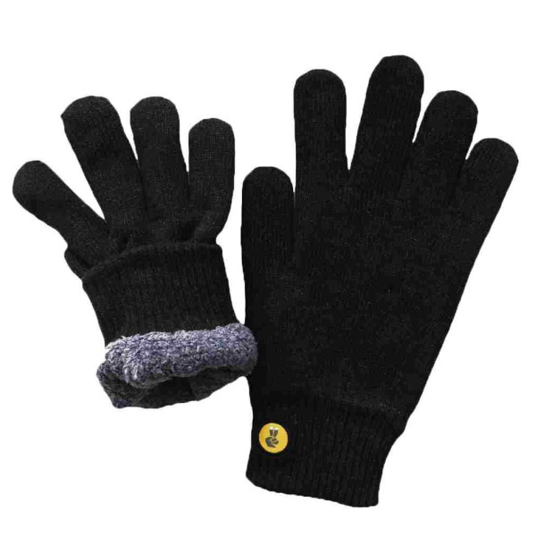 Glove.ly Cozy Gloves, Black, Large