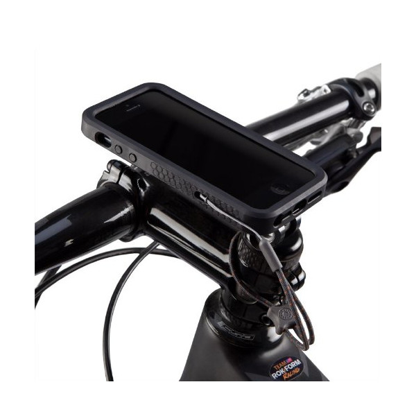 RokForm Ultra Light Pro Series Aluminum Bike Mount with Protective Case for Apple iPhone 5/5S (Black)