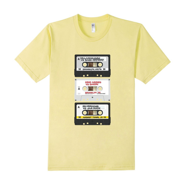 CLASH TAPES Tee - Male Large - Lemon