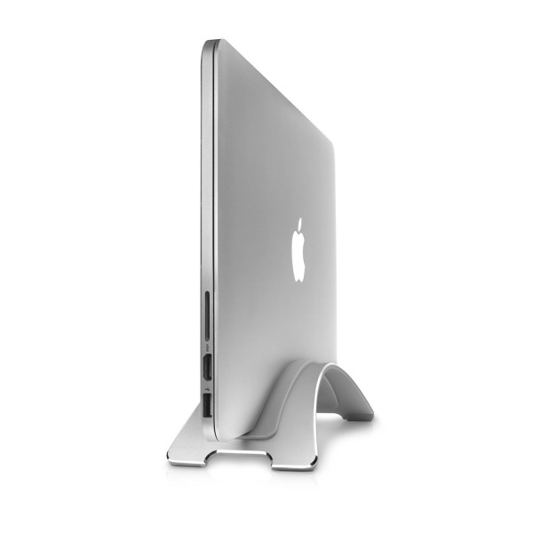 Twelve South BookArc for MacBooks, silver | Space-saving vertical desktop stand for Apple Notebooks