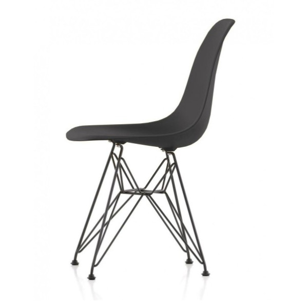 Mod Made Paris Tower Side Chair Chrome Leg, Black, Set of 2
