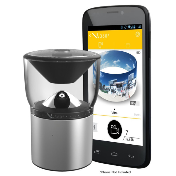 V.360° HD Camera Kit - The World's first 360° seamless HD action camera.