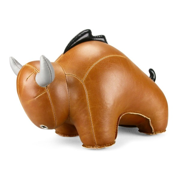 Zuny Series Bull (Buloo) Tan Animal Bookend