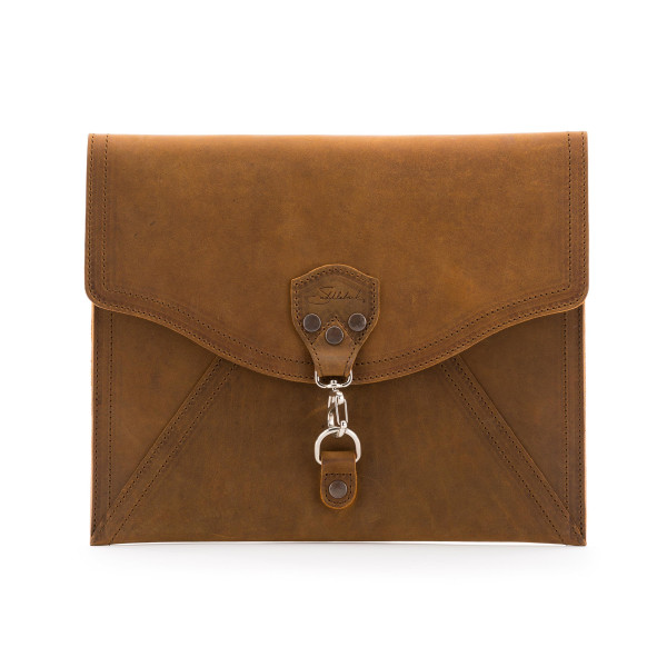 Saddleback Leather Envelope Clutch,  Tobacco