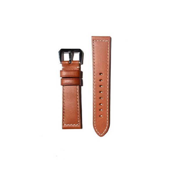 24mm Tan Panerai Style Watchband with Heavy Original Design S/S Buckle