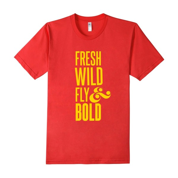 FRESH, WILD, FLY & BOLD Tee - Male Medium - Red