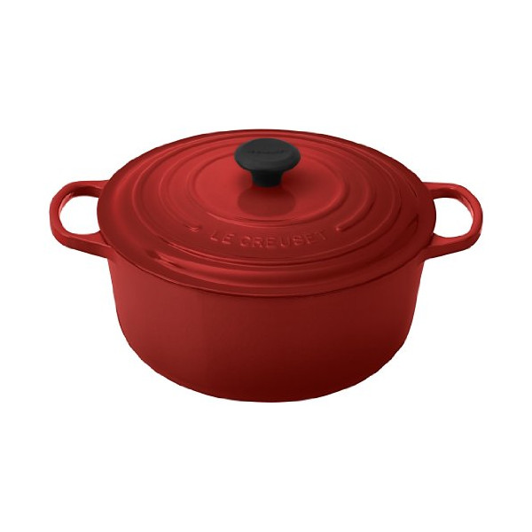 Le Creuset Signature Enameled Cast-Iron 7-1/4-Quart Round French (Dutch) Oven, Cherry