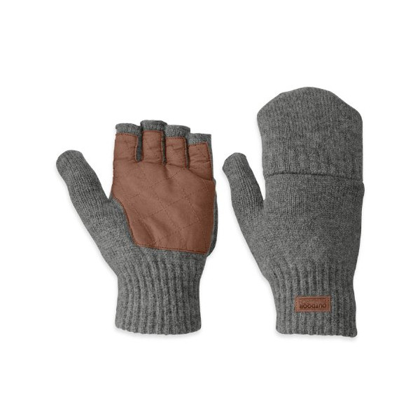 Outdoor Research Men's Lost Coast Mitts, Pewter, Medium