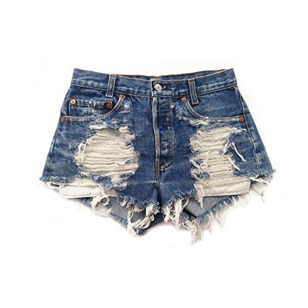 Women's Vintage Levi's Distressed Stone Dreamer High Rise Cut-Off Shorts-L