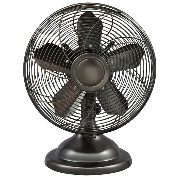 Optimus F-6212 Oscillating Antique Table Fan, 12-Inch