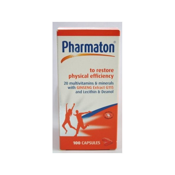 Pharmaton Restore Physical Efficiency With Ginseng 100 Capsules