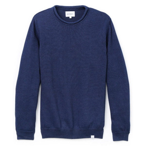 Norse Projects Men's Sigfred Roll Sweater, Indigo