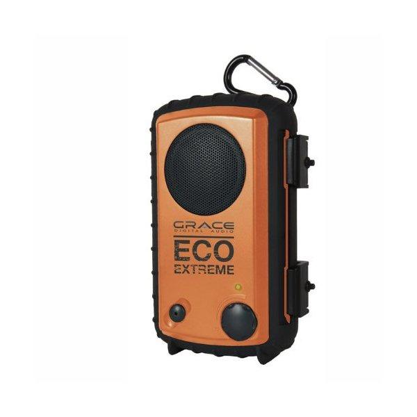 Grace Digital Eco Extreme 3.5mm Aux Waterproof Portable Speaker Case (Orange)