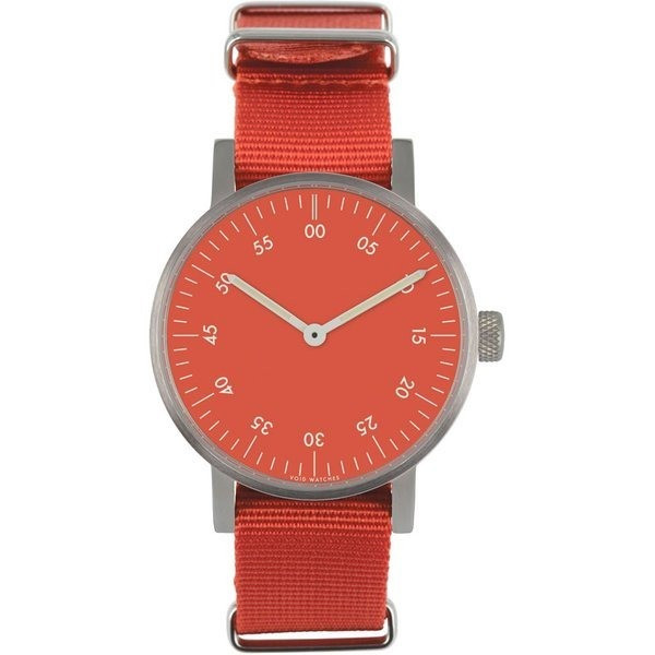 VOID V03B Watch, Brushed/Red