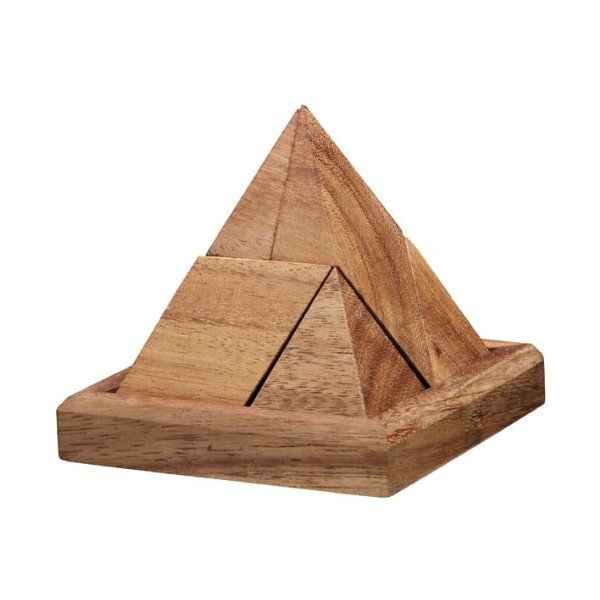 7 Piece Pyramid - 3D Wooden Inerlocking Brain Teaser