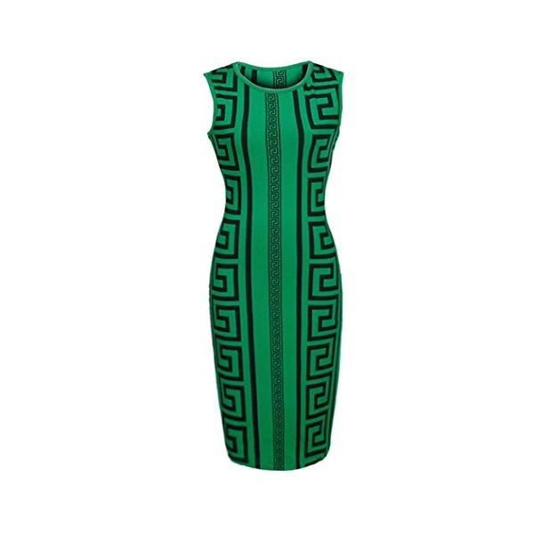 Zeagoo Women Vintage Sleeveless Sexy Bodycon Pencil Dress Fitted Party Cocktail