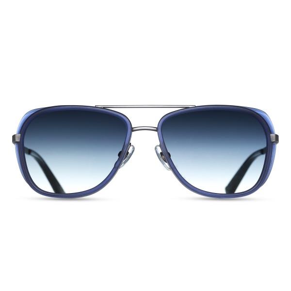 Matsuda M3023 Blue Aviator Sunglasses