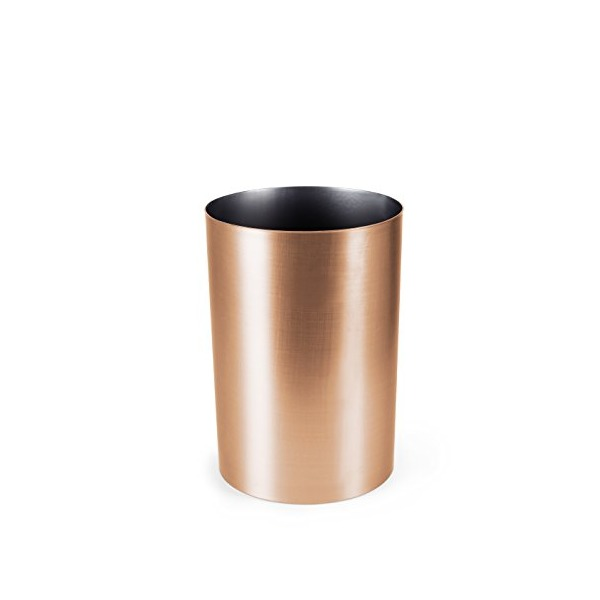 Umbra Metalla 4.5-Gallon Waste Can, Copper