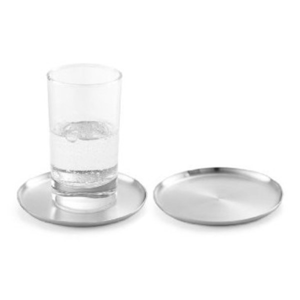 Zack Contas Stainless Steel Coaster, Set of 2