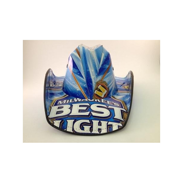 Officially Licensed Milwaukee's Best Light Beer Cowboy Style Beer Hat